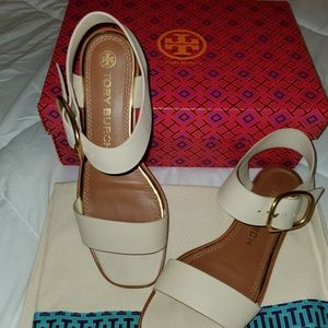 Tory burch Shelby flat sandal calf leather